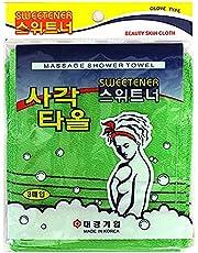 Sweetener, Koreaanse peelinghandschoen (3 stuks), peeling handdoek, Koreaanse exfoliating Bath Washcloth (3 stuks), Death Skin Remover Made in Korea