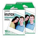 Fujifilm Instax Square Film, White Twin Pack (20 Exposures)