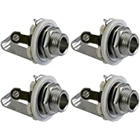 "Cables Female Jacks ¼"" Audio Female TS Mono Panel Mount Jack- 4 Pack"