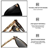 Dollger Skull Design Cat Eye Sunglasses UV400