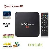 APTC MXQ Pro Android 6.0 Amlogic S905 1080p 4K 3D Quad Core Wifi Internet Streaming Smart Media TV Set Top Box