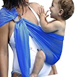 Jiaoly Baby Wrap Breathable Mesh Adjustable Water Ring Sling Carrier Quick Dry Summer swimming beach (A)