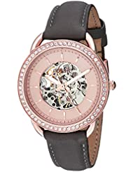 Fossil Womens ME3151 Tailor Automatic Gray Leather Watch