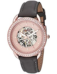 Fossil Women's ME3151 Tailor Automatic Gray Leather Watch