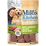 Milo'S Kitchen Beef Sausage Slices With Rice Dog Treats, 3-Ounce, 12-Pack