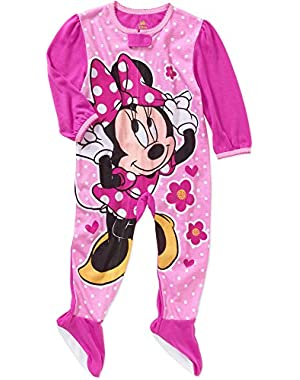 Minnie Mouse Baby Girls Footed Blanket Pajamas