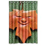 DavidHot The Season Of Maple Leaf New Waterproof Polyester Curtain ()
