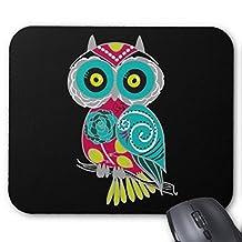 CottonHouse Beautiful Retro Colorful Owl Mouse Pad