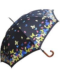 rainstopper Mujer activación de agua cambio de color paraguas con estampado de mariposas