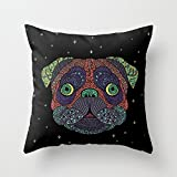 alphadecor throw cushion covers of dogs 20 x 20 inches / 50 by 50 cm,best fit for teens girls,teens,pub,home,coffee house,girls 2 sides