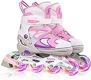Gonex Inline Skates for Kids and Adults, Adjustable Size Roller Blades for Boys and Girls, Outdoor Roller Skat