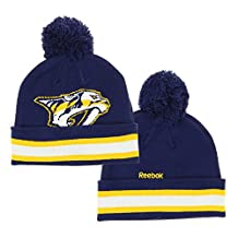 NHL Reebok Big Boys Youth (8-20) Face Off Cuffed Knit Winter Hat With Pom, Team Options