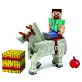 Jazwares Minecraft Steve with White Horse Action Figure.