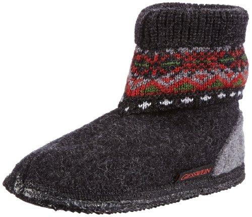 Giesswein Kristiansand - Pantuflas de lana niño gris - Grau (anthrazit 019)