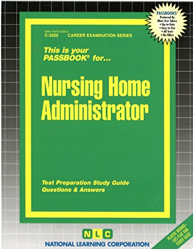 Nursing Home Administrator(Passbooks) (C-3205)