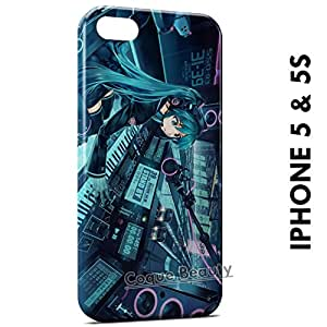 Carcasa Funda iPhone 5/5S Girl Music Space Protectora Case Cover