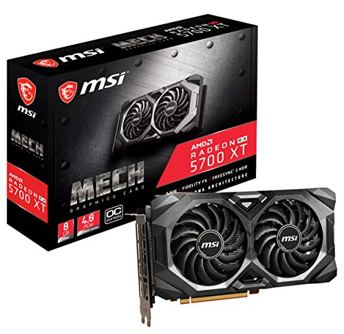MSI Gaming Radeon Rx 5700 Xt Boost Clock: 1925 MHz 256-bit 8GB GDDR6 DP/HDMI Dual Fans Crossfire Freesync Navi…