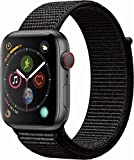 Apple Watch Series 4 (GPS+Cellular) Aluminum Case Unlocked Compatible with iPhone 5s and Above (Space Gray Aluminum Case with Black Sport Loop, 40mm)