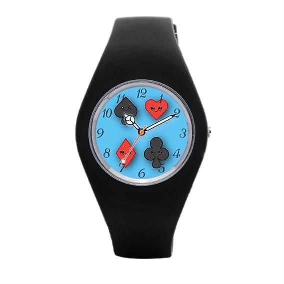 Kawaii SPORTSWATCH Cute Negro Goma Reloj
