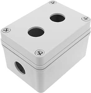 BeMatik - Caja de control de dispositivos eléctricos para 2 pulsadores o interruptores de 22 mm beige: Amazon.es: Electrónica