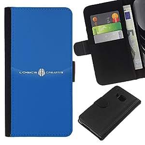 KingStore / Leather Etui en cuir / HTC One M9 / Marca blanca Logotipo del texto