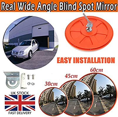 Car Park Shop Security Hospital Home Driveway Convex Traffic Mirror 130 Degree Blind Spot Mirror Wide Angle Unbreakable Security Mirror For Road Safety,Garage Parking School 30CM Alley