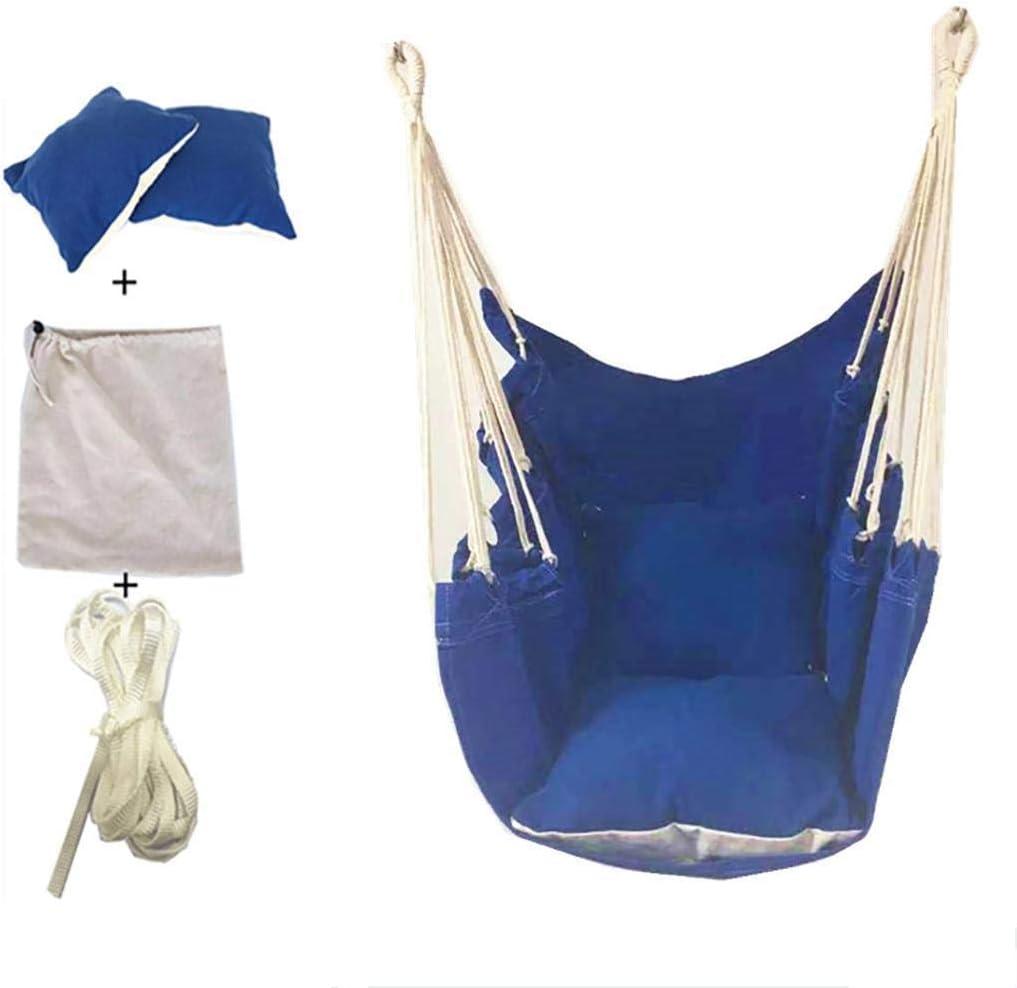 fukjem Cotton Rope Weaving Canvas Swing Chair Home Outdoor Swing Hammock Hanging Chairs Hammocks