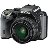 Pentax K-S2 Black Racing Stripe 20MP Weatherized SLR with Lens kit