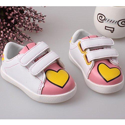 Ouneed® Krabbelschuhe , 12-36 Monate Weibliche Schuhe Prinzessin Kleinkind Schuhe Tendon weiche Unterseite Rosa