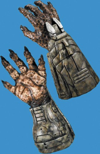 Costume Accessory: Predator Hands *** Product Description: All Latex Gauntlet Hand/Gloves. Finish Your Predator Look With These Collector Quality Hands. ***