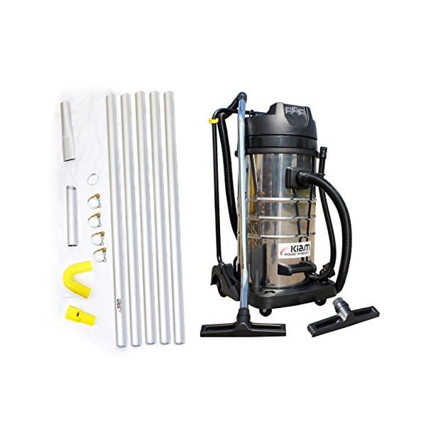 Kiam Gutter Cleaning System KV100-3 3600W Triple Motor Industrial Wet & Dry Vacuum Cleaner & Gutter Pole Kit (40ft (12m))