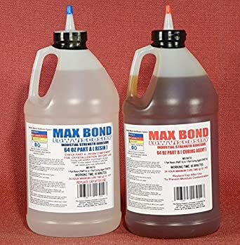 MAX BOND LOW VISCOSITY MARINE GRADE Epoxy Resin 2 Gallon Kit For Fiberglass  Lay Up, Boat Building, Deck Repair, Wood Rot Repair, Reinforcing,
