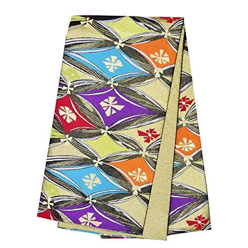 和道楽着物屋 振袖用 仕立て上がり袋帯 単品 古典 モダン 女性 レディース ポリエステル ゴールド 金 番号d102-9 着物 和装 レディース