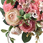 Ivalue-2PCS-Artificial-Rose-Flower-Arrangements-Wedding-Bouquets-Silk-Fake-Flowers-Plants-for-Home-Decoration-B-Champage-Pink-2