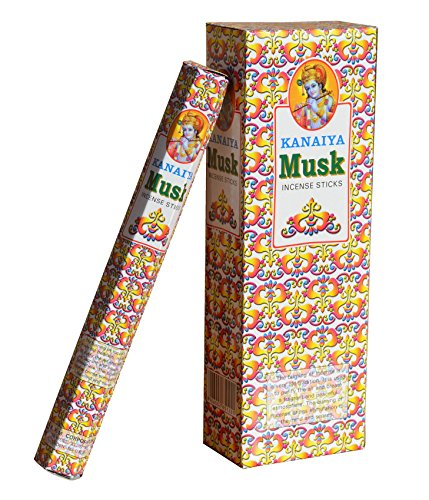 Musk Incense Sticks From India - 120 Sticks - Made From Natural Scented Oil - Kanaiya Brand By Tikkalife