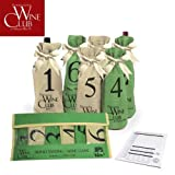 Blind Wine Tasting Game Includes: Six Individually Numbered Bags, Storage Pouch & Pad Of Scoring Notes - All you need is wine!