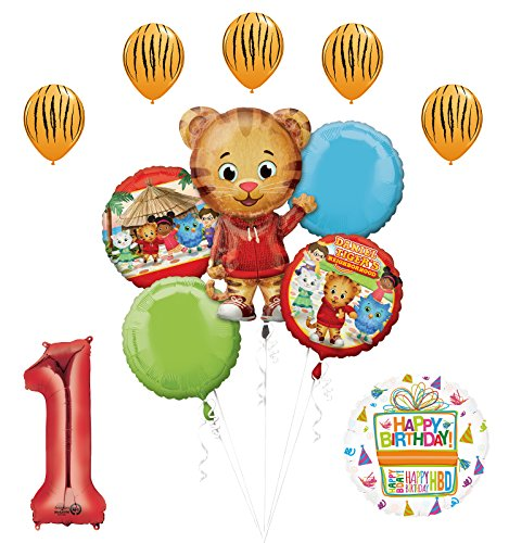 Mayflower Products The Ultimate Daniel Tiger Neighborhood 1st Birthday Party Supplies and Balloon Decorations]()