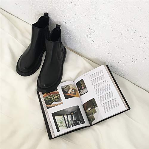 Lianaii Damen Stiefel Dick-Soled Herbst Und Winter Flache Stiefel Plattform Damenschuhe Kurze Stiefel Martin Stiefel Flache cda148