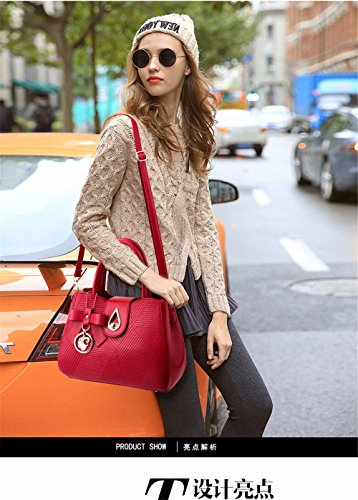 Soft gules Clutch Shoulder with Large Casual Vintage PU Body Shoulder MSZYZ Wristlet Pockets Shoulder Bags Small Capacity Women's Cross Leather Many Bq6XX4wR
