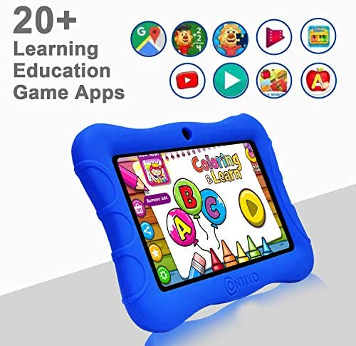 Contixo V9-3-32 7 Inch Kids Tablet, 2GB RAM 32 GB ROM, Android 10 Tablet, Educational Tablets For Kids, Parental Control Pre Installed Learning Game Apps WiFi Bluetooth Tablets For Kids, Dark Blue