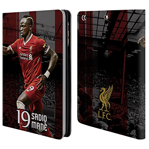 Official Liverpool Football Club Sadio Mané 2017/18 First Team Group 1 Leather Book Wallet Case Cover For iPad mini 1 / mini 2 / mini 3