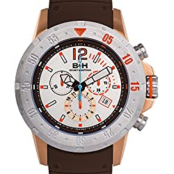 Brandt & Hoffman Men's 'Forsyth' Swiss Ronda 5040.D Textured Silicone Watch(Model: 62625357)