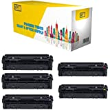 Compatible Canon 045H Toner Cartridge High Yield for Canon ImageCLASS LBP611Cn, LBP612cdw, MF632Cdw, MF634Cdw (0461C001CTA, 0459C001CTA 0457C001CTA, 0455C001CTA) -5Pack- 2x Black 1xCyan Magenta Yellow