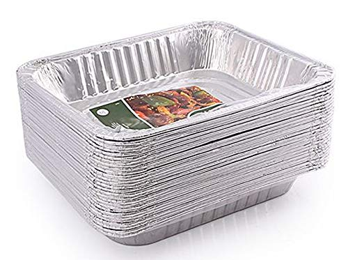 30-Count 9x13 Disposable Aluminum Foil Half Size Deep Steam Table Baking Pans Great for Catering, Heating, Storing, Prepping Food (Best Frozen Lasagna Costco)