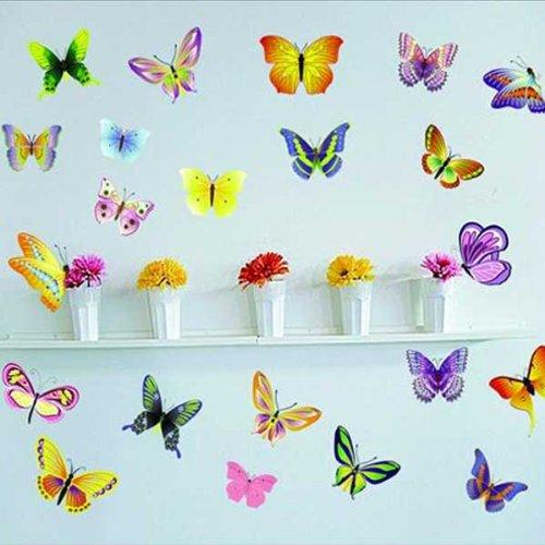 Bestofferbuy pegatinas de mariposas de diferentes colores ideales para decorar paredes - Pegatinas para decorar ...