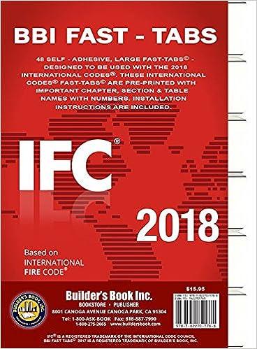 2018 International Fire Code (IFC) Fast Tabs: Builders Book Inc: 9781622701766: Amazon.com: Books