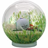 Sand Trap Golf Globe - Hand-blown Glass - 6'' Diameter Water Globe - By Glass Eye Studio