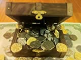 Lot of 100 - Metal Pirate Coins with Chest