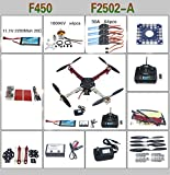 QWinOut DIY F450 Quadcopter ARF Combo Full Set Drone with QQ Super Flight Controller (All Parts included for Ready to Fly, Unassembly)