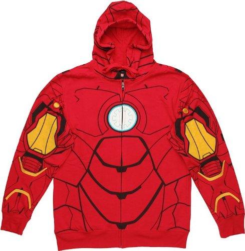 Marvel Men's My Iron Suit Hooded Costume Fleece, Red, - Online Shop Ironman